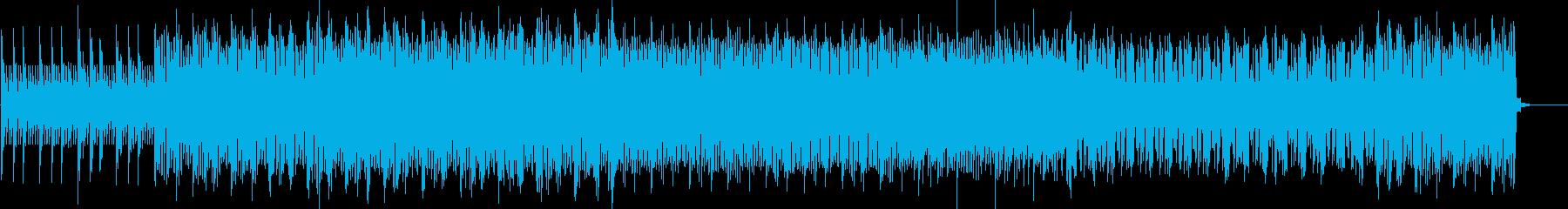 緊迫感を煽るサイバーエレクトロ風BGMの再生済みの波形