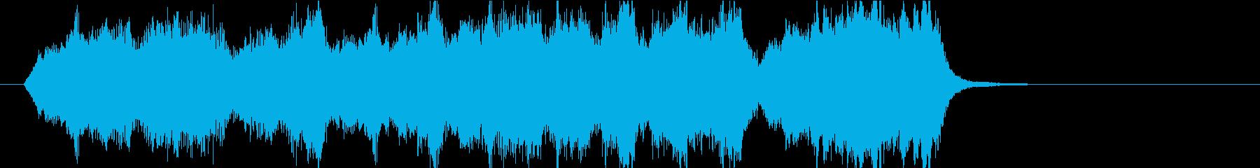 15秒CM向け 心癒す弦楽四重奏 の再生済みの波形