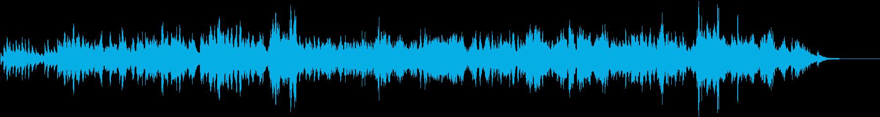バイオリンとピアノの優しいワルツ生演奏の再生済みの波形