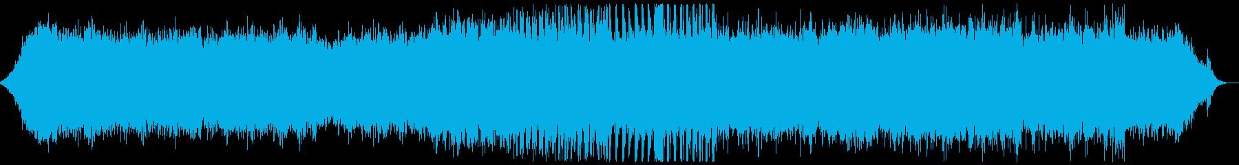 キラキラした音の入ったヒーリング音楽の再生済みの波形