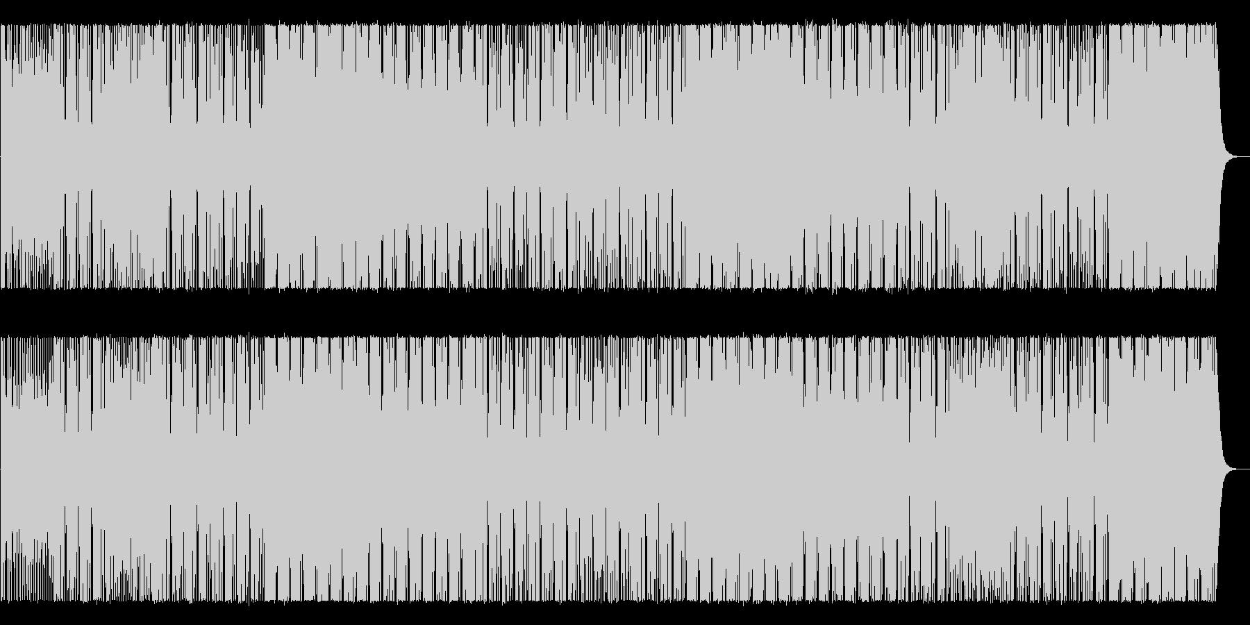 無機質でアングラな雰囲気のBGMの未再生の波形