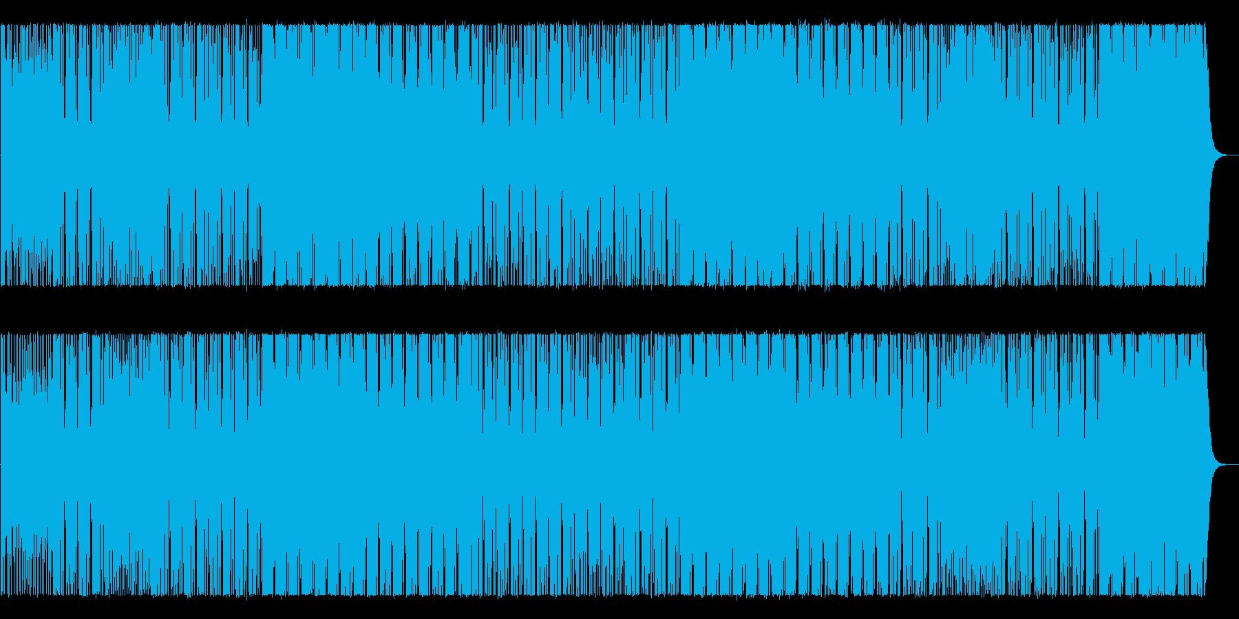 無機質でアングラな雰囲気のBGMの再生済みの波形