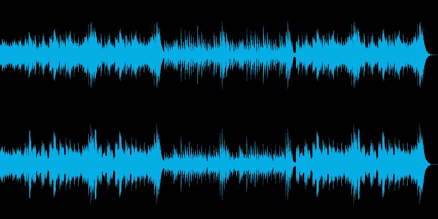 落ち着いたキレイなピアノサウンドの再生済みの波形