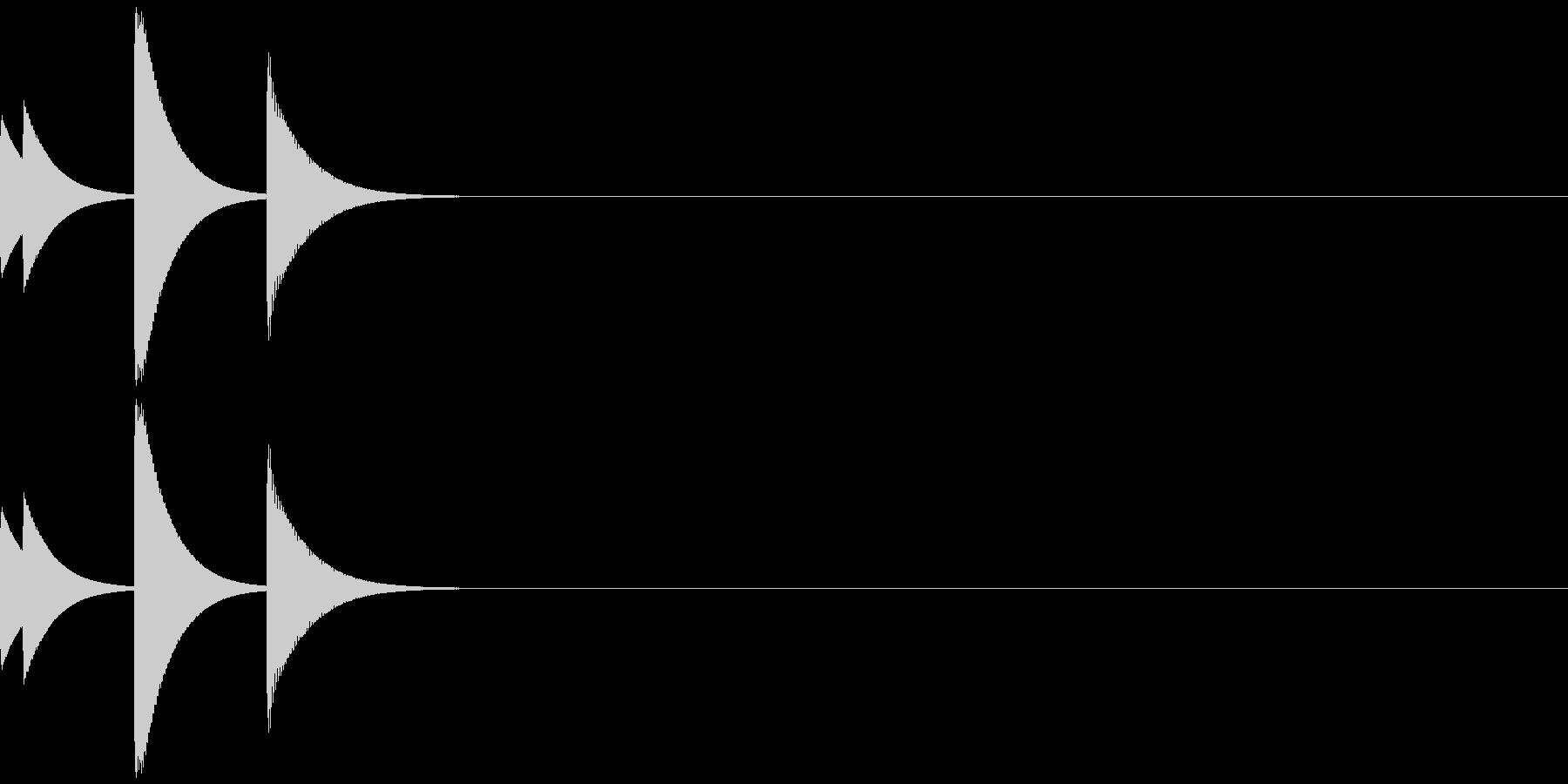 ポップアップ/システム音/ポコ/7の未再生の波形