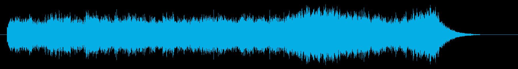 前向きな音色のシンセが特徴的なジングルの再生済みの波形