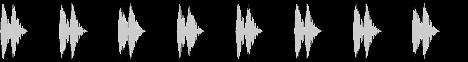 ドクン…ドクン(心音/脈拍100/幼児)の未再生の波形