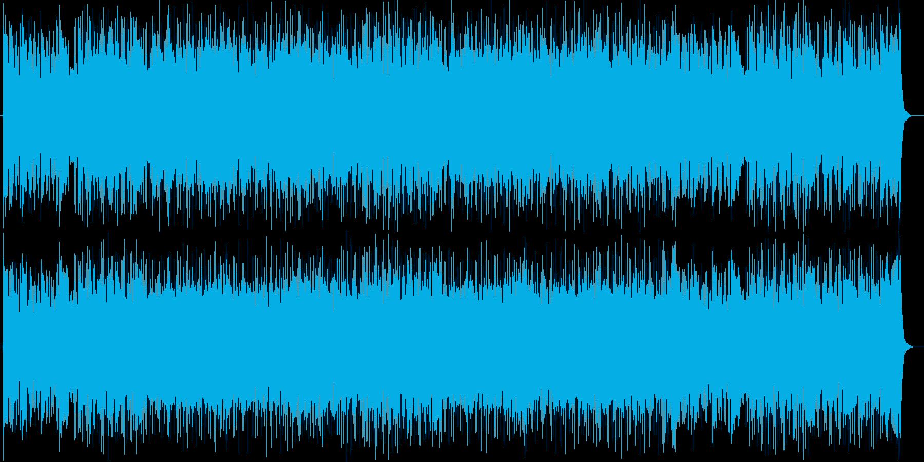 前向きで軽快な明るいシンセサイザーの曲の再生済みの波形