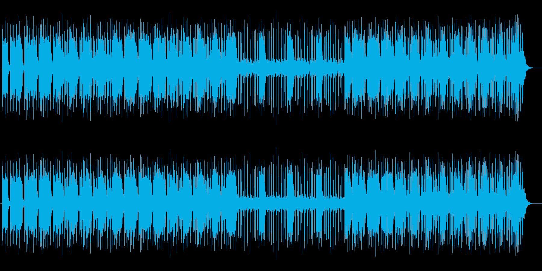 ほの明るいミステリーミュージックの再生済みの波形