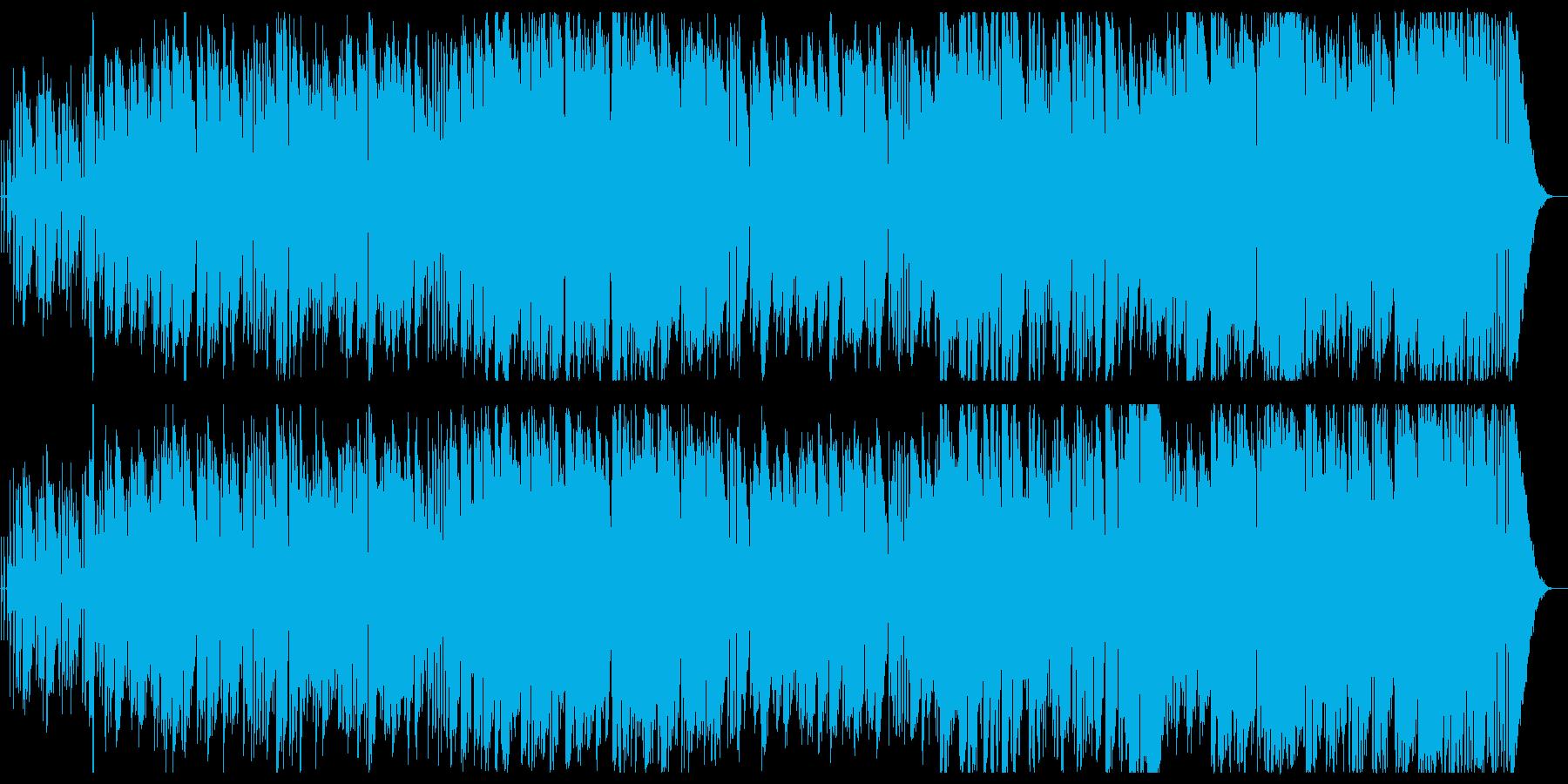 まったりできる心地よいメロディーの再生済みの波形
