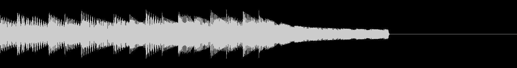 クエスト達成ファンファーレ 8bitの未再生の波形