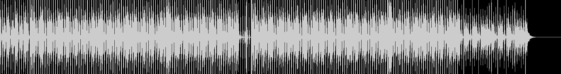 明るいポップBGMの未再生の波形