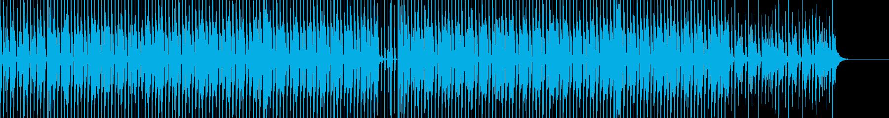 明るいポップBGMの再生済みの波形