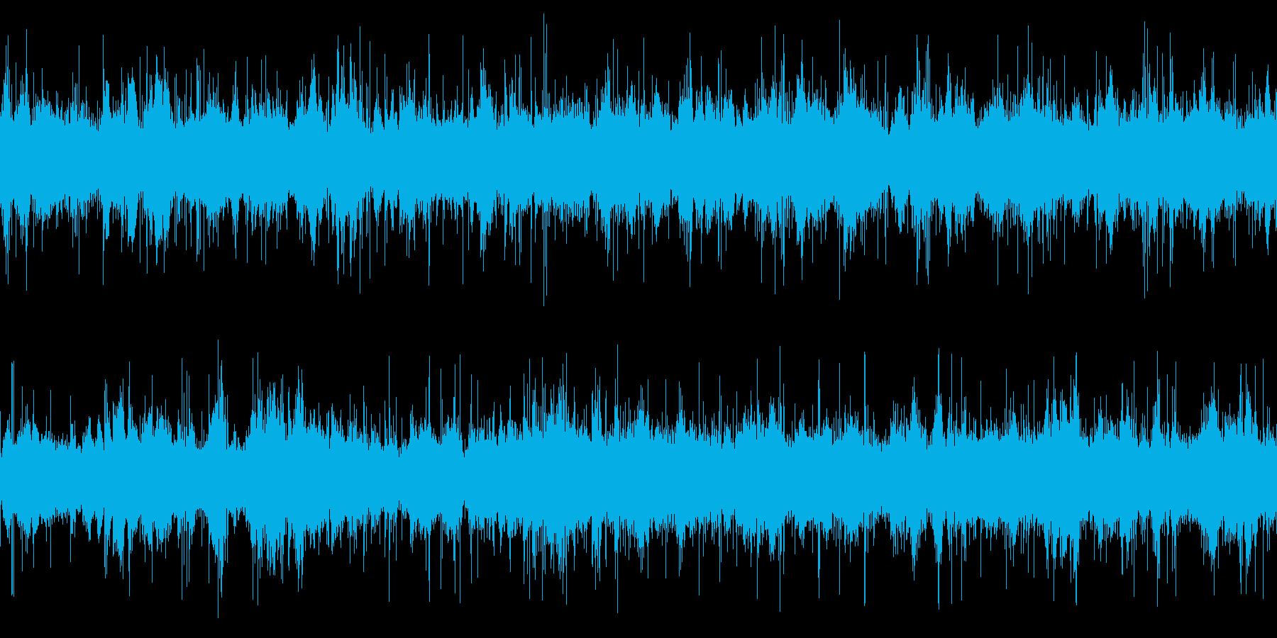 ループ再生可能!3分間の水中音・ポコポコの再生済みの波形