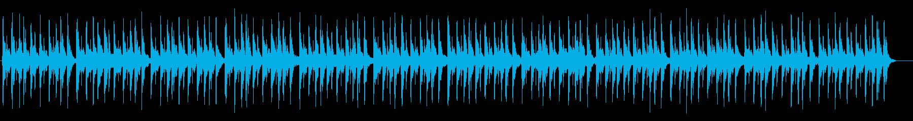 アフリカ民族楽器をイメージしたBGMの再生済みの波形