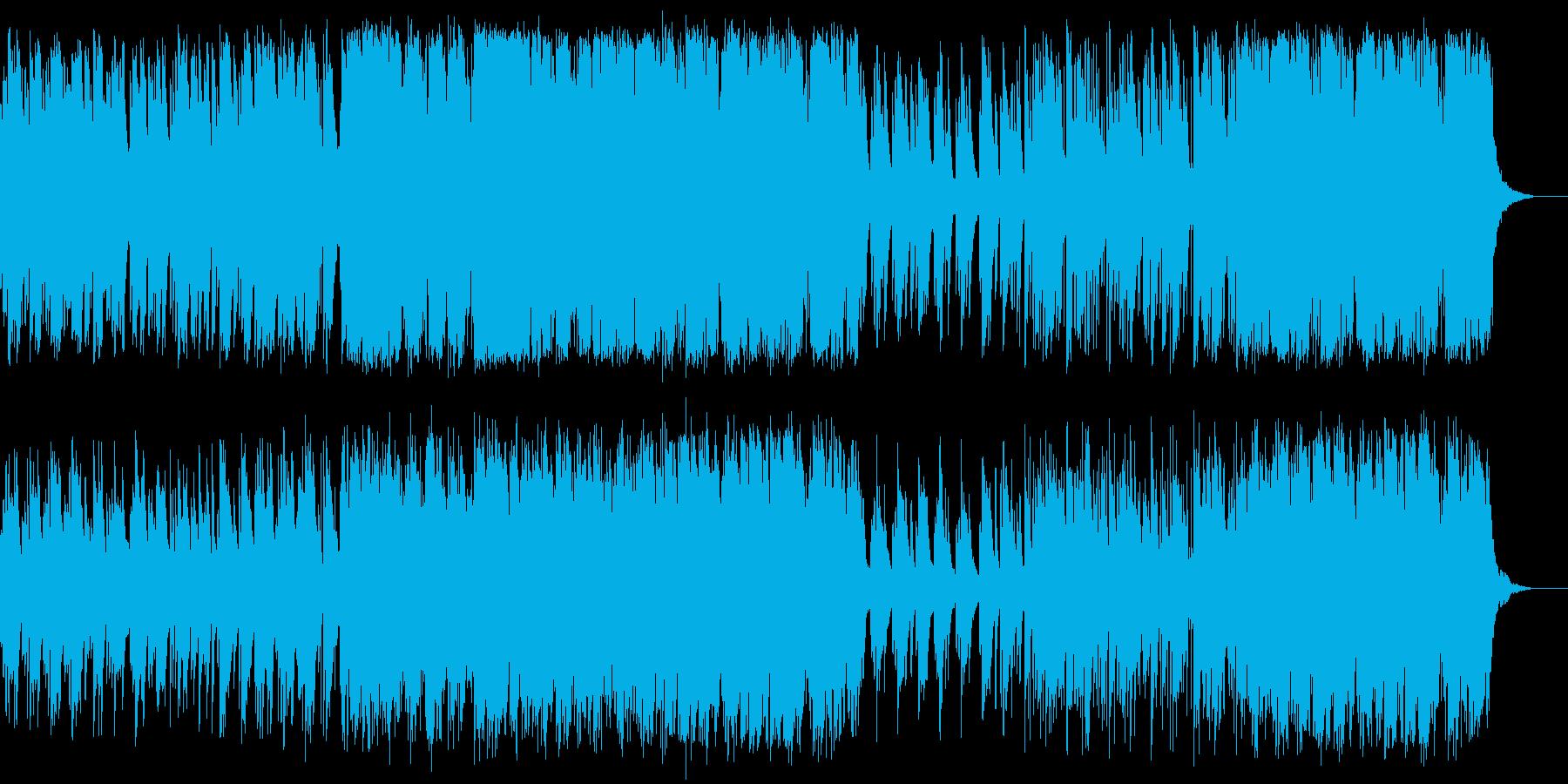 悲しく哀愁感のあるスローバラードの再生済みの波形