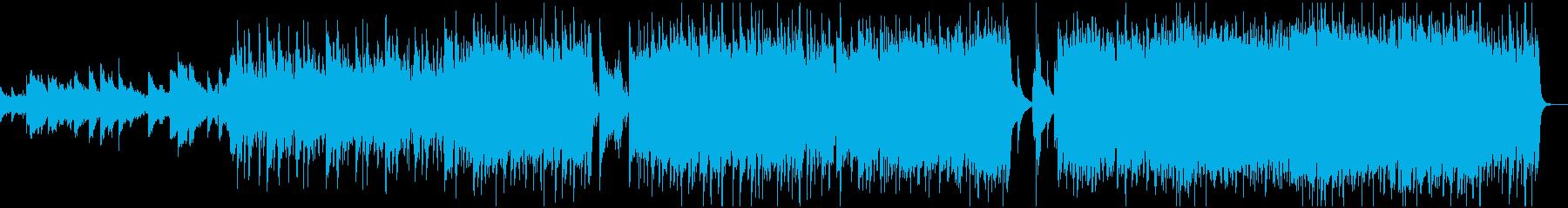 ストリングス+ロックのダークな情景曲の再生済みの波形