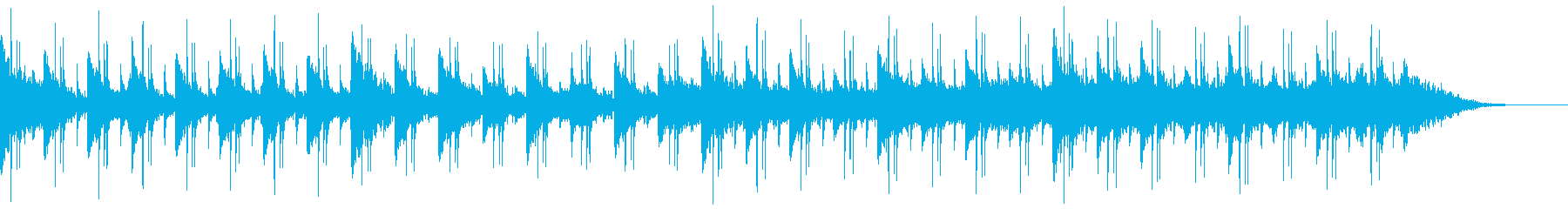 クールで感傷的なピアノのヒップホップの再生済みの波形