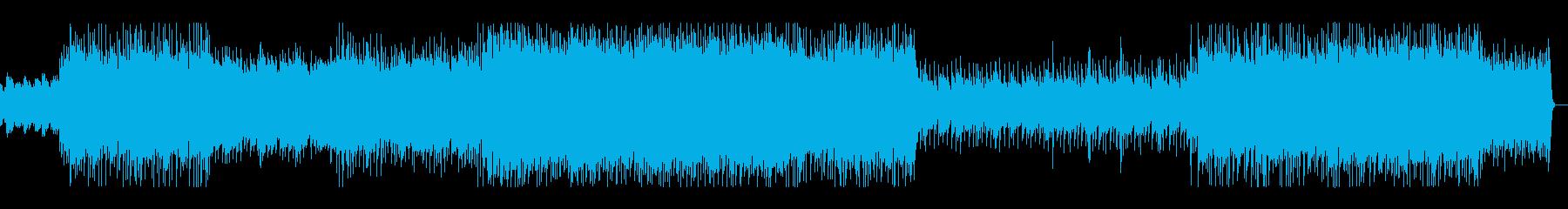 ギターのアルペジオが印象的なロックの再生済みの波形