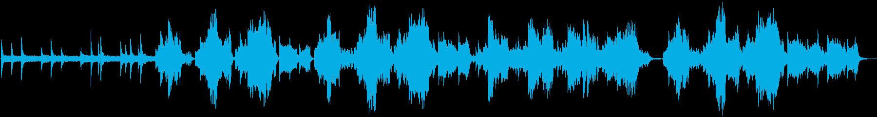 静かで優しい癒しのあるリコーダーの曲の再生済みの波形