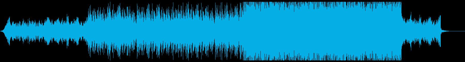 爽やかで浮遊感のあるエレクトロの再生済みの波形