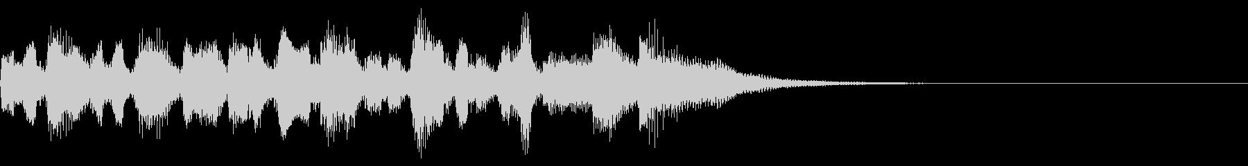 生演奏リコーダーとピアノ伴奏のジングルの未再生の波形