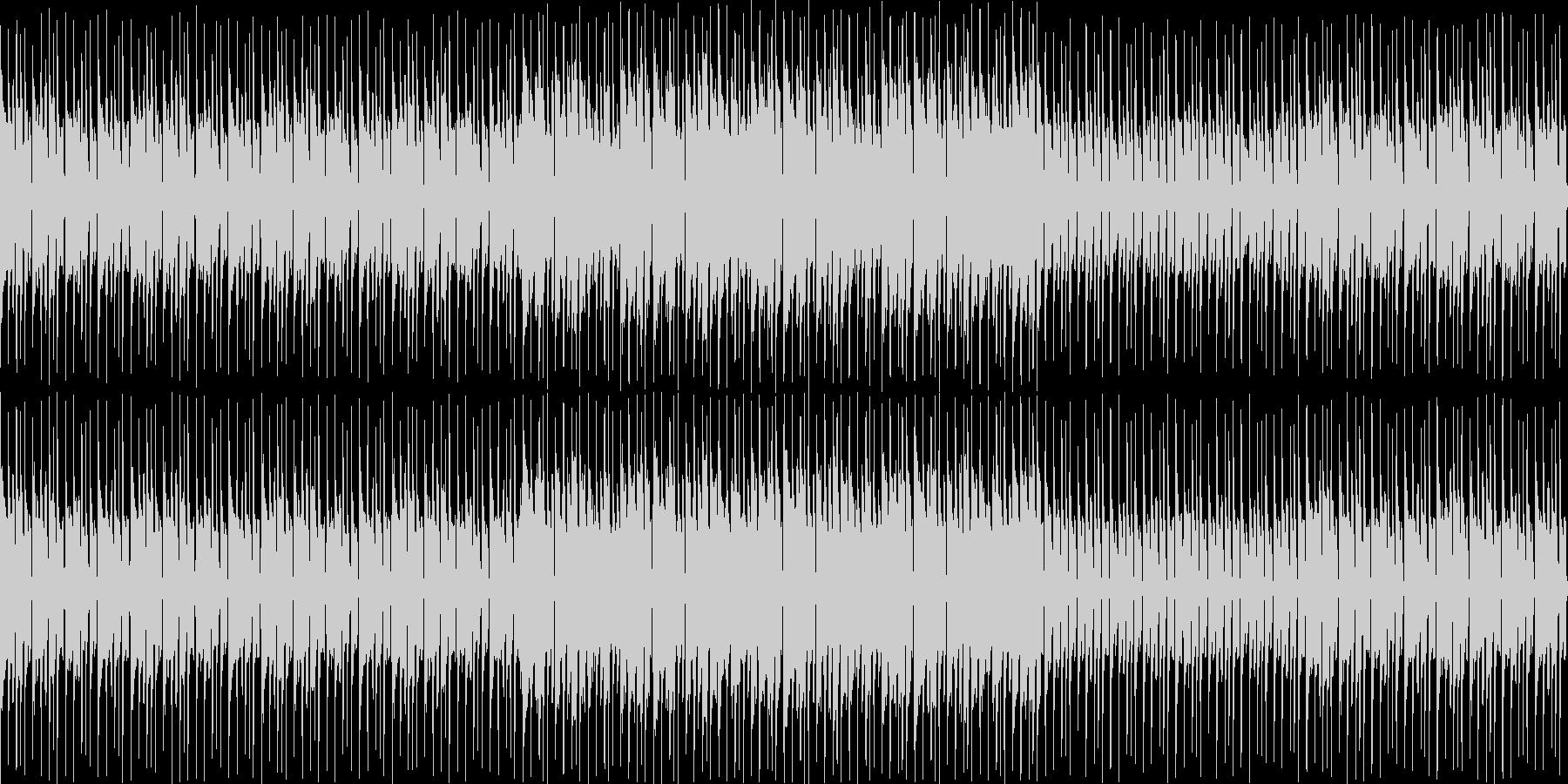 レースゲームのメニュー画面を想定した曲の未再生の波形
