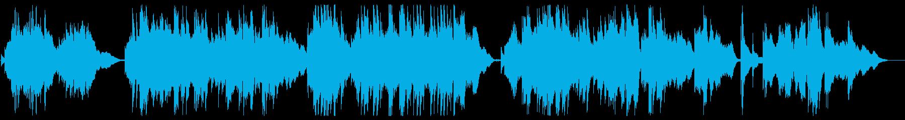叙情的な余韻を残すピアノミュージックの再生済みの波形