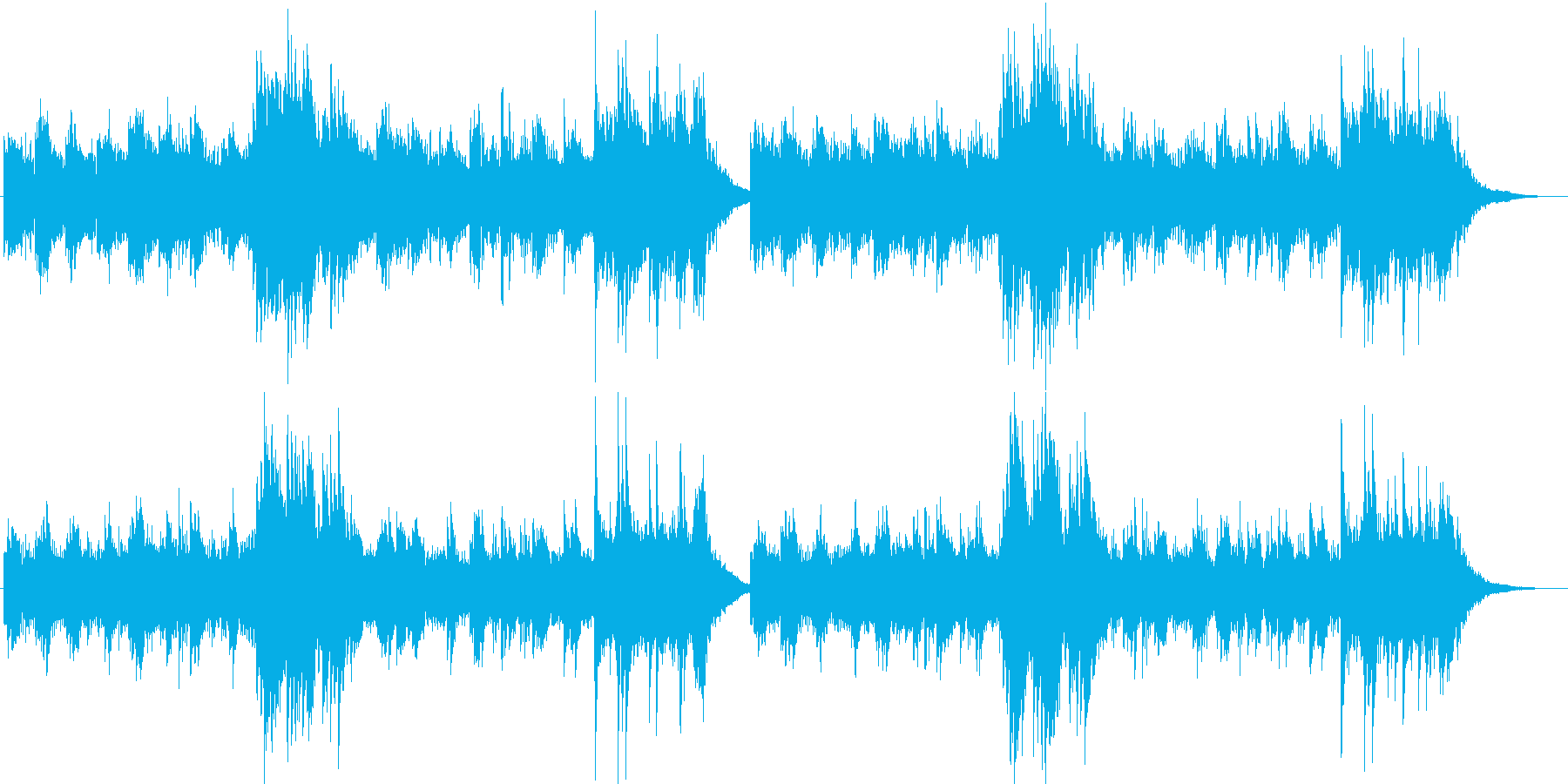 癒しピアノのヒーリングBGMの再生済みの波形