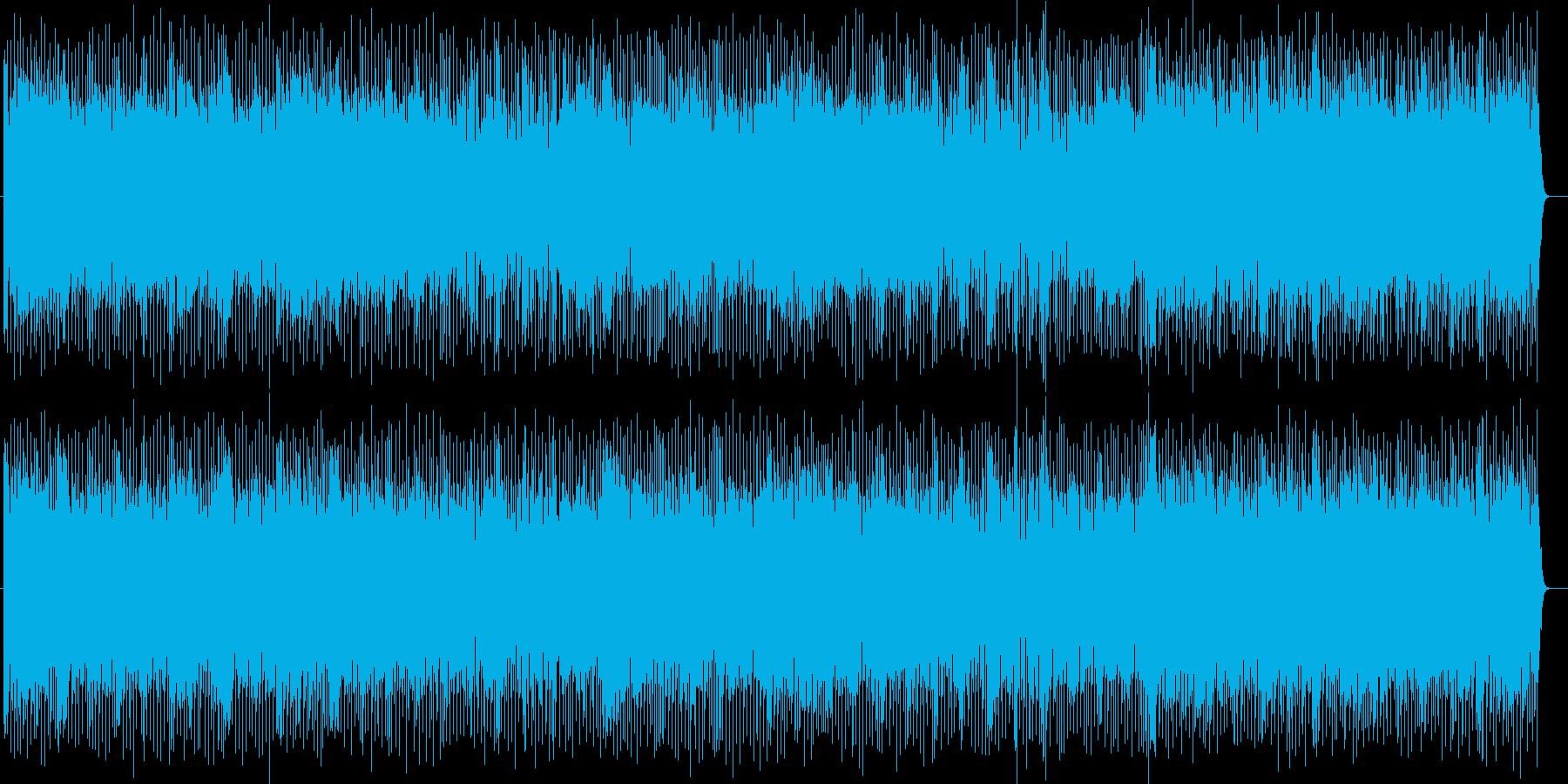 グルーブ感のある明るいハウスの曲の再生済みの波形