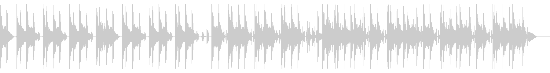 167 BPMの未再生の波形