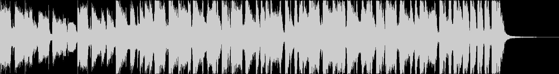派手なブラスのファンクロックジングルの未再生の波形