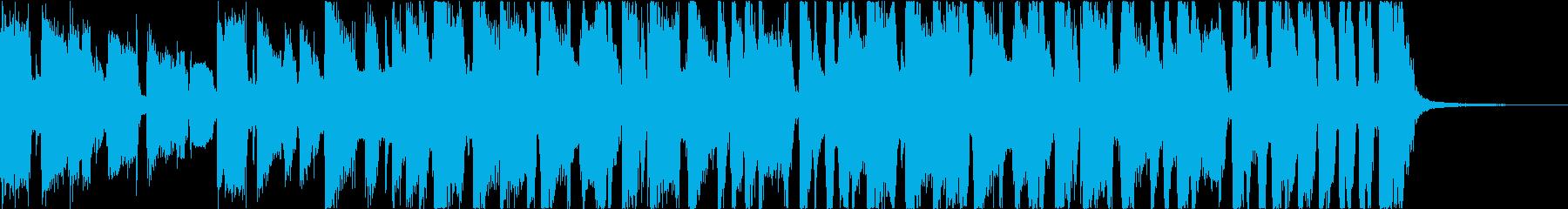 派手なブラスのファンクロックジングルの再生済みの波形