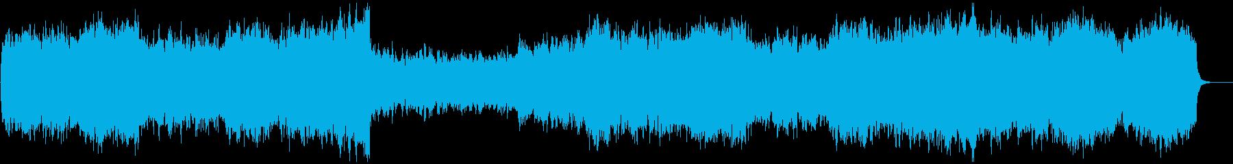 ゲームのラスボス登場風の暗く重々しい曲の再生済みの波形