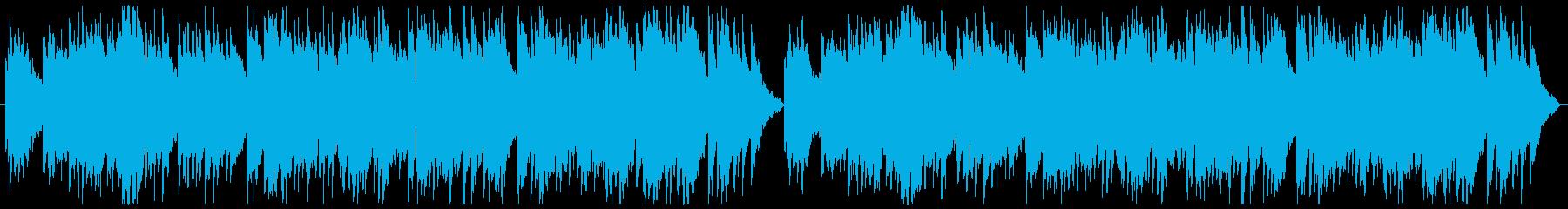 ふんわりとしたやさしいBGMの再生済みの波形