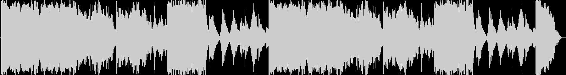 荒廃的な雰囲気のBGMの未再生の波形