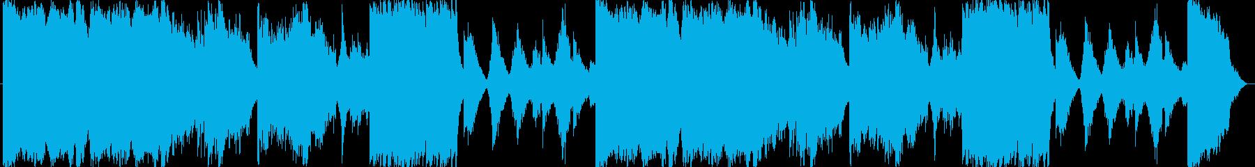 荒廃的な雰囲気のBGMの再生済みの波形