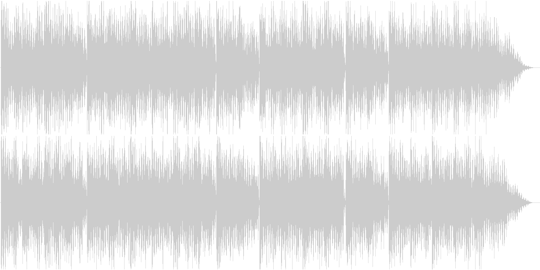 細かいリズムとエレピの曲の未再生の波形