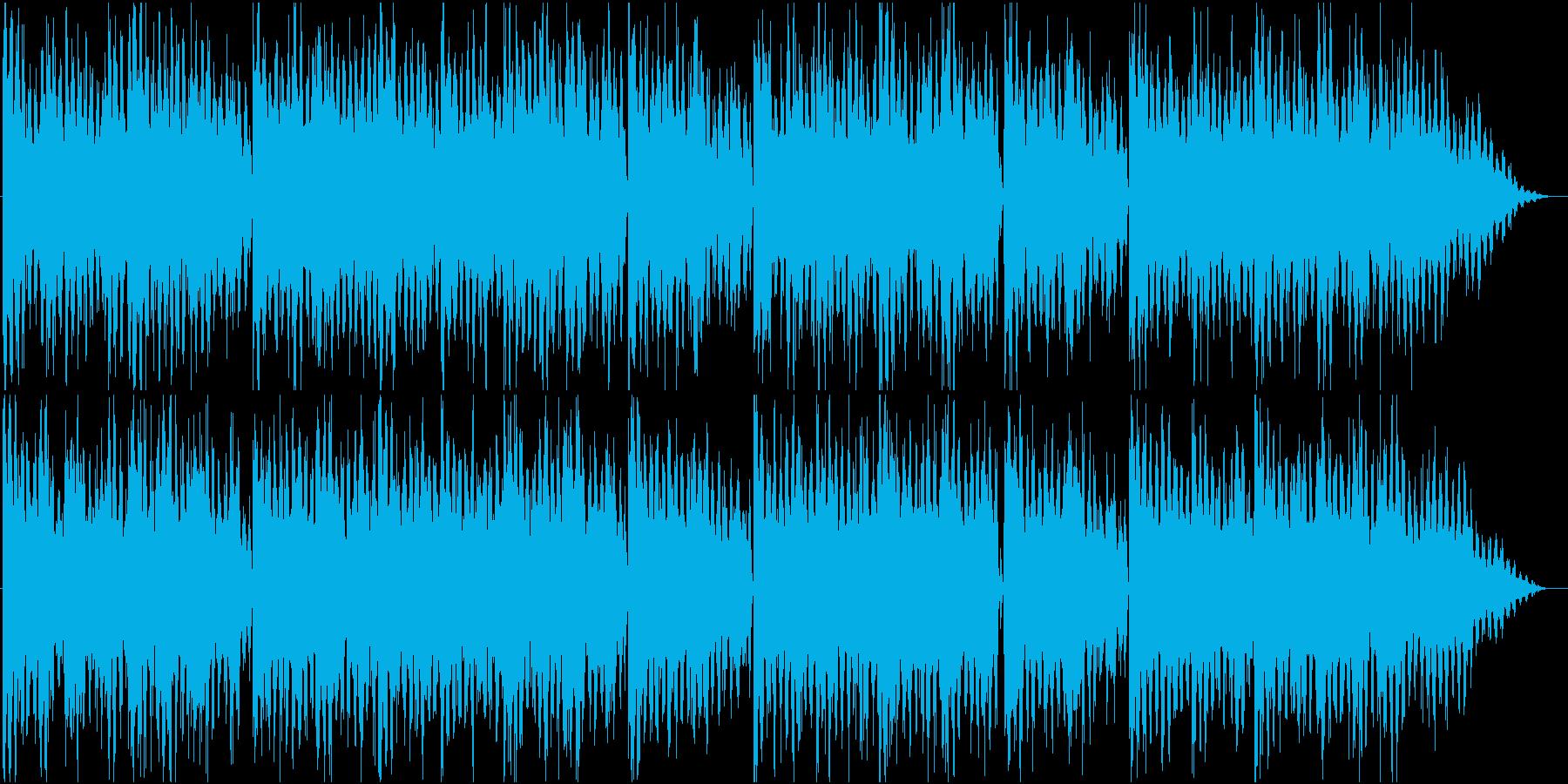 細かいリズムとエレピの曲の再生済みの波形