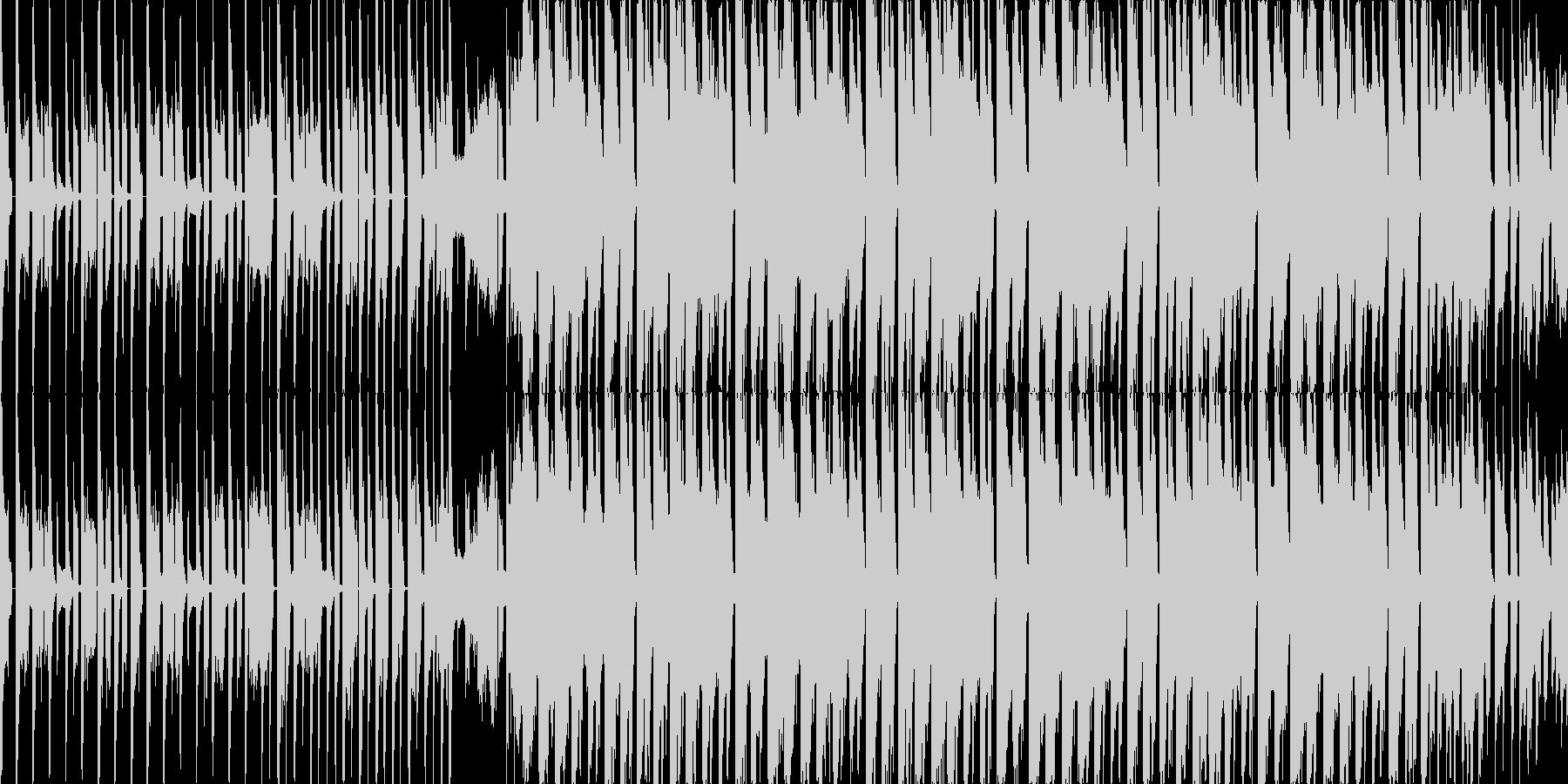 かわいいきゃっちーなテクノポップの未再生の波形