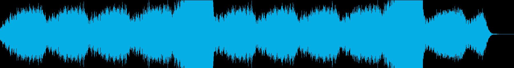 とても静かなドローンの再生済みの波形