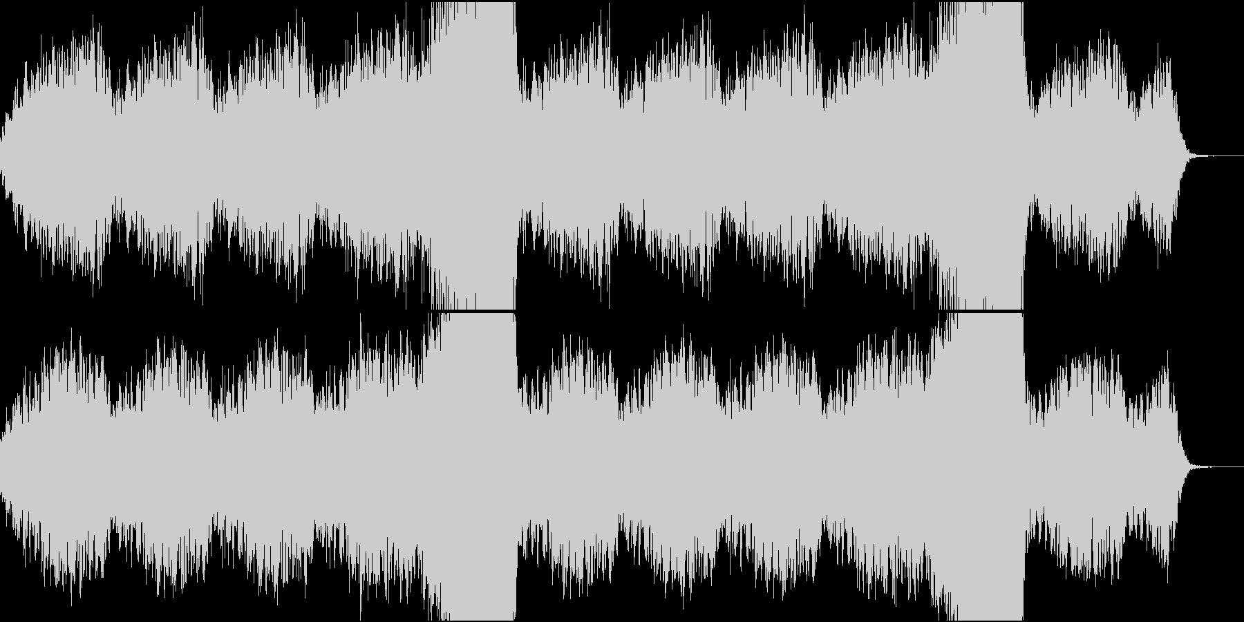 とても静かなドローンの未再生の波形