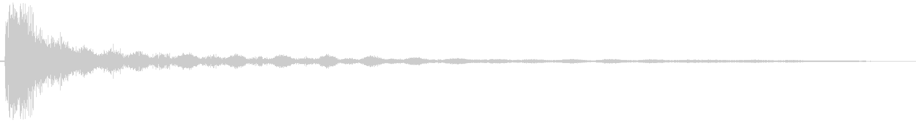 Guyoan (widely resonately low impact sound)'s unreproduced waveform