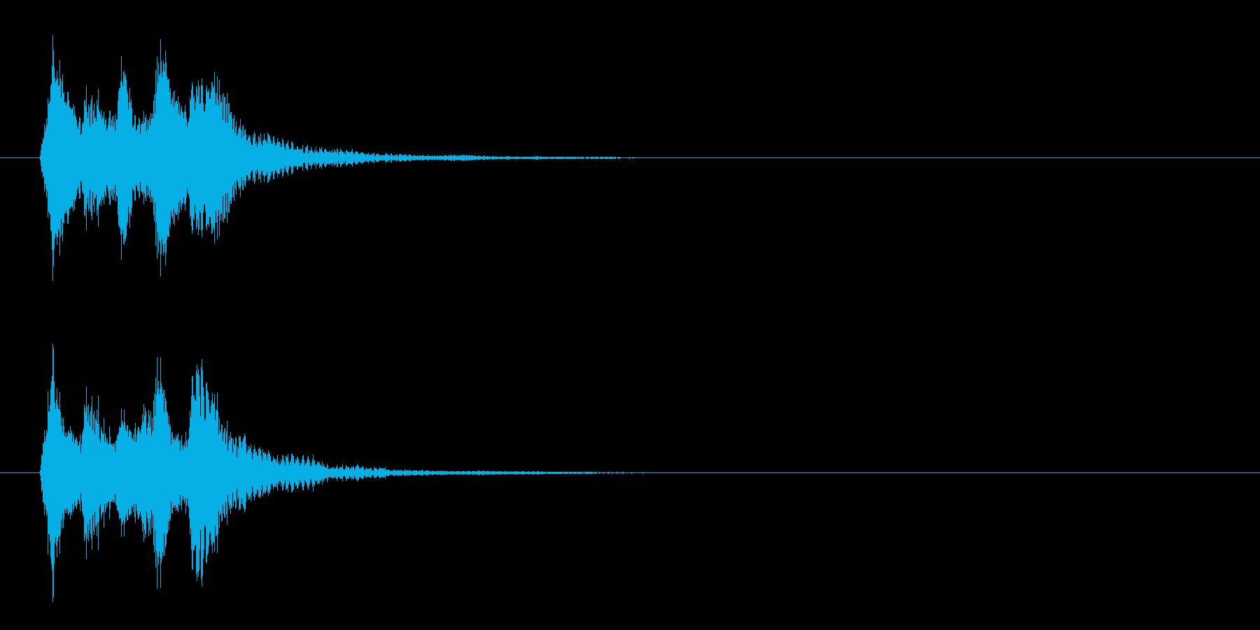 邦楽風_場面展開の再生済みの波形