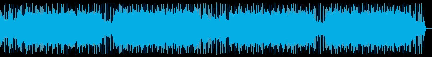 民族楽器と4つ打ちの怪しい曲-02の再生済みの波形