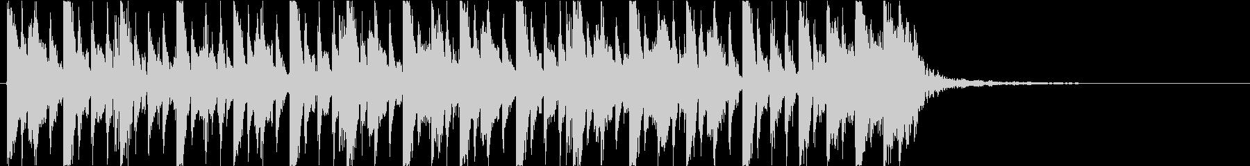 スラップベース 15秒 CM ジングルの未再生の波形