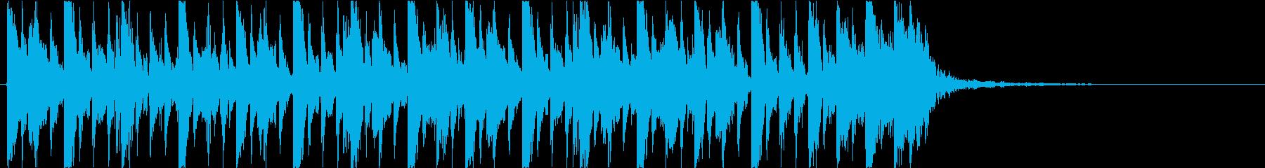 スラップベース 15秒 CM ジングルの再生済みの波形