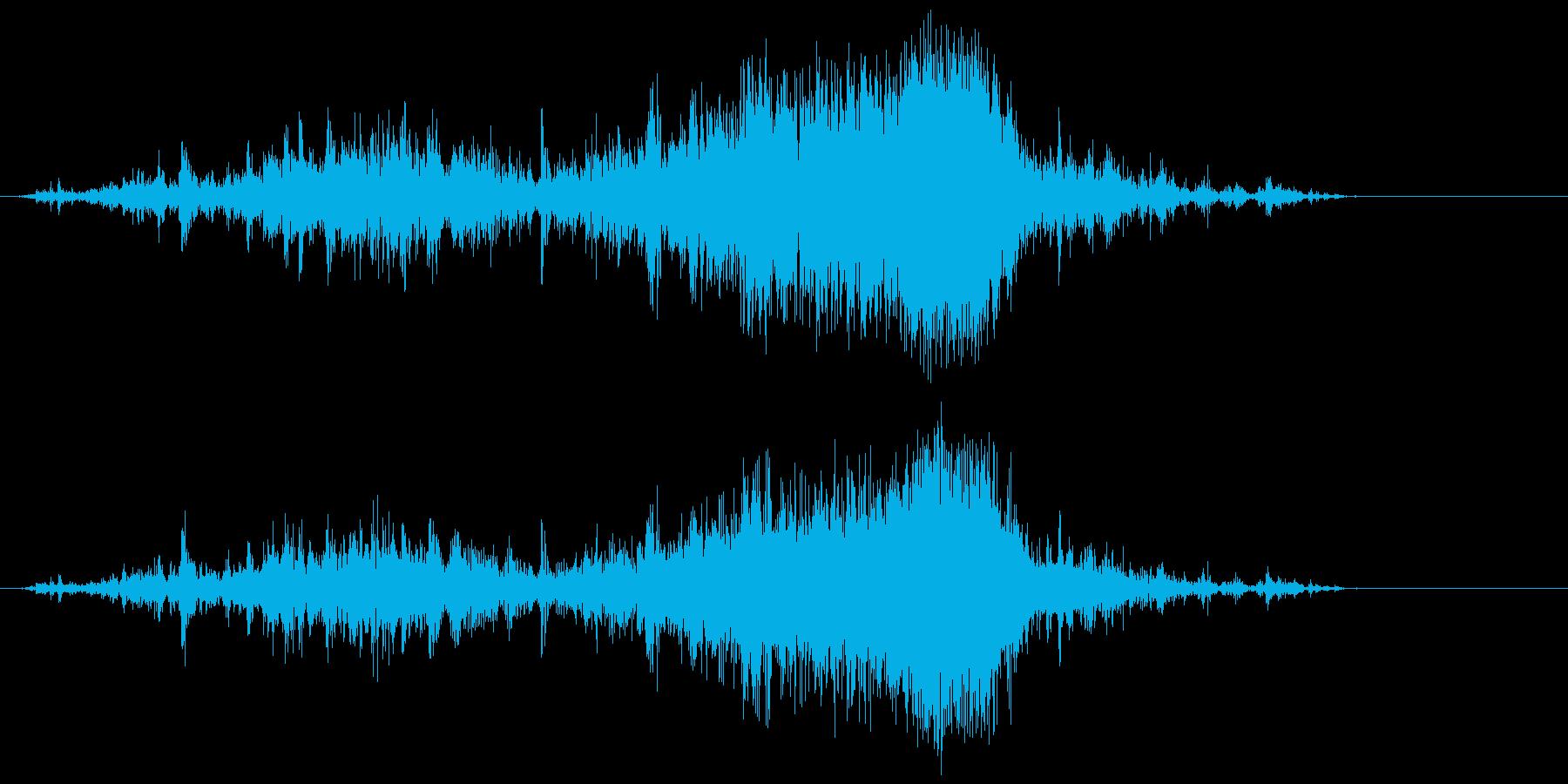 ビニール袋(ガシャ)の再生済みの波形