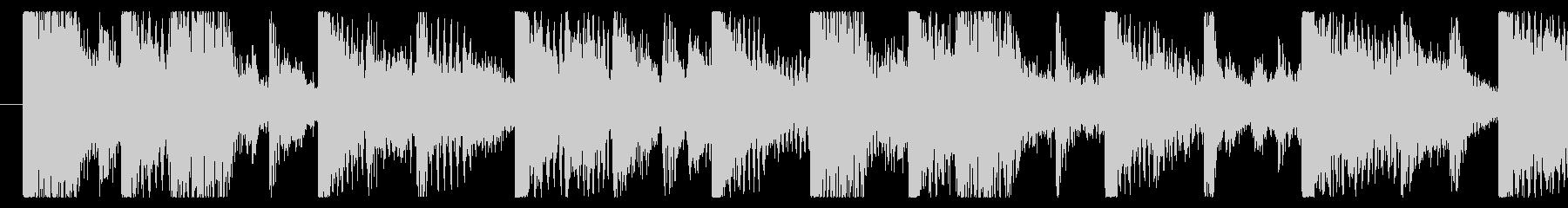 気分の上がるファンクロック-ループ2の未再生の波形