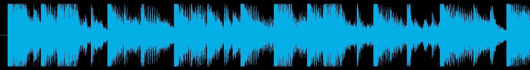 気分の上がるファンクロック-ループ2の再生済みの波形