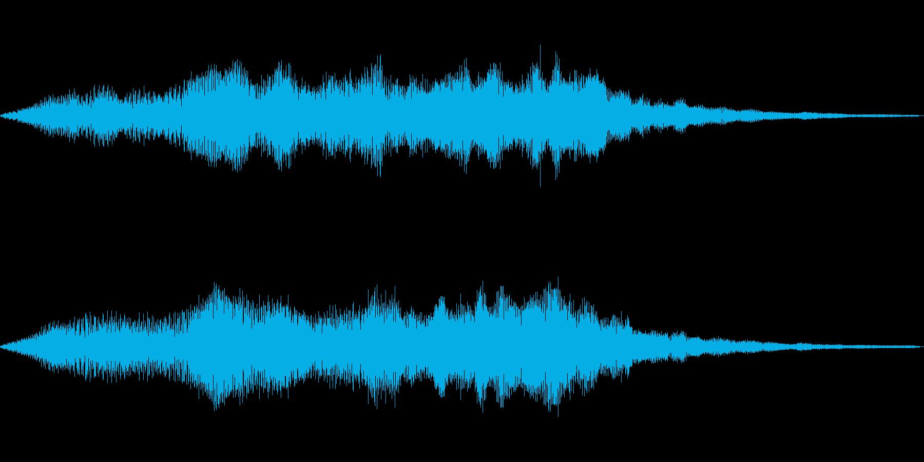 フワッとした穏やかなサウンドロゴの再生済みの波形